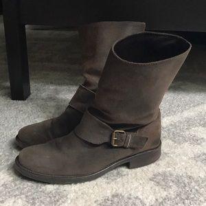 J.Crew Leather Moto Boots